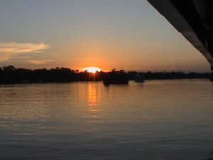 Sunset on the Zambezi River, near Victoria Falls